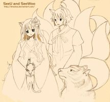 SeeU and SeeWoo by Kheetza
