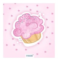 Muffin Sticker by sanjcek