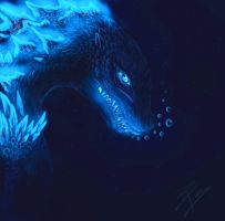 Godzilla in the Abyss by BlueSkyJellyfish