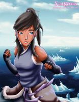 Korra in the south pole by SolKorra