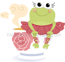 Froggie Teacup Commission by YamPuff