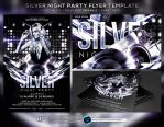 Silver Night Party Flyer Template by ranvx54