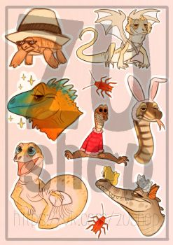 Reptiles Stickers  by purpl8ze