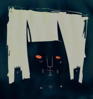 the batman-rabbit-satan-beast by garbages