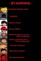 Starring cast for Hellcaskets : Night Renegades by ajtcomicsbrand