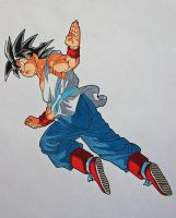 ''See Ya Next Time!'' Son Goku by SakakiTheMastermind