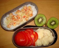 Crayfish curry bento by Vetriz