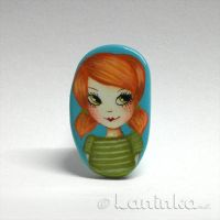 Ginger Tomboy Brooch by 1anina