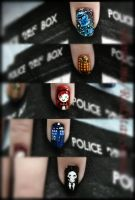 Dr Who NailArt Detail by RedStar-Sama