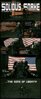 Solidus Snake at Federal Hall by aVersionOfReality