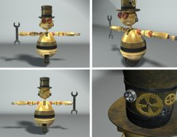 Steampunk Robot by Cheeguar