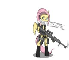 Cyber Sniper Fluttershy by ConvoyKaiser
