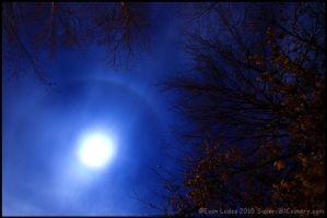Moon Halo by FramedByNature