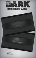Dark Business Card by GrDezign
