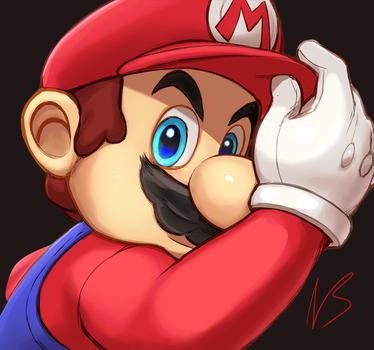 Mario and Cappy by hybridmink