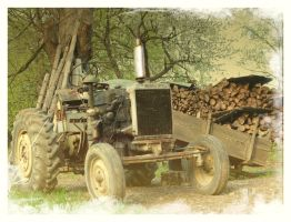 old tractor by odina222