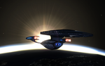 Departure of the U.S.S. Warden by Kant-Lavar
