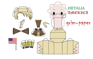 HETALIA USA pattern by Grim-paper