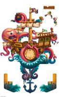 Top That! Pirate Clock by lilibz
