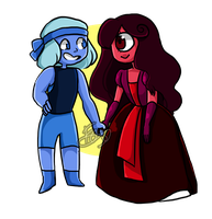 Color swap (Ruby and Sapphire) by Foxnezze02