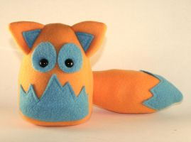 Orange and Teal Fox Plushie by Saint-Angel