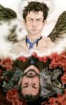 Castiel and Crowley HT#001 by WhisperingWatermelon