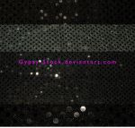 Black Round Sequins Fabric by Gypsy-Stock