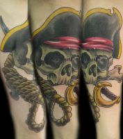 Well hung Pirate tattoo. by mxw8