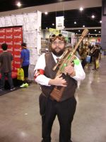 Steampunk Ghostbuster cosplay by Robot001