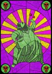 Oogie Boogie - stained glass villain by unclefrogface