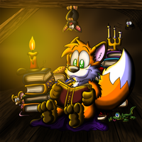 Huk the bookfox by Hukley