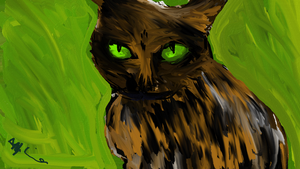 Fresh Paint - Tiddly the Cat by watermelemon