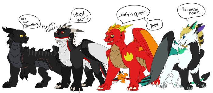 Leafy's Chin Search Team by Red-Dragon-Blaze