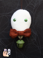 Rustic Simplistic Green Ghost Halloween Dangle by 1stQueenOfHalloween