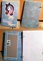 Custom Mini-ish Sketchbook by EnchantingRainbow