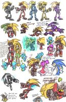E-102 Gamma and his brothers (Sonic style) by HoshiNoUsagi