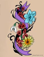 Flower Tattoo color by Jimmy-B-Deviant