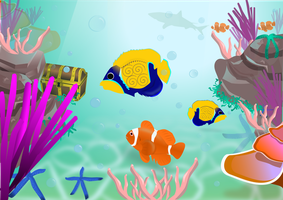 Inkscape - Aquarium by Devonique