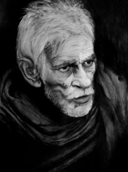 Old man pencil study by AgusZanetti