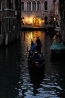 Evening gondola - Venice 1 by wildplaces