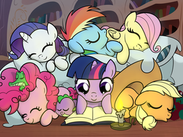 Pile o' Fillies by drawponies
