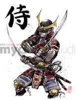 Armored Samurai 2 Swords by MyCKs