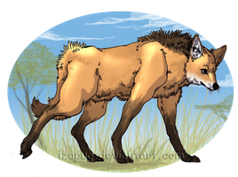 Maned Wolf by IzaPug