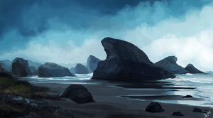 Beachy Bg Environment practice. by victter-le-fou