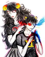 Aradia and Sollux by CrazyAnime3