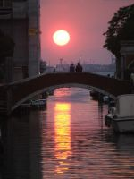 venetian sunset by Umrae-Thara