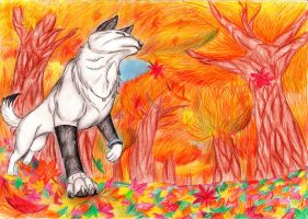 Let The Leaves Fall by FlamewolfTheWhite