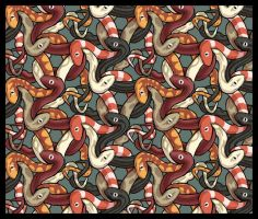 Snakes tesselation by calciumfish