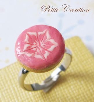pink donut ring by PetiteCreation