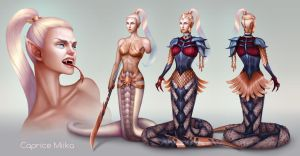 Character design: Naga by domeano